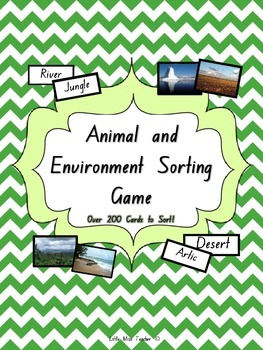 Animal and Environment/Habitat Sorting Game - Over 200 Cards to Sort!