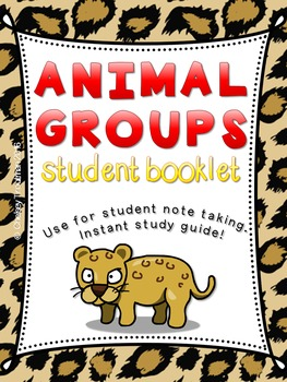 Animal and Habitat Classification Booklet