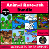 Animal and Habitat Research Bundle Second Grade