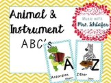 Animal and Instrument ABC Posters