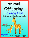 Animal Offspring Unit with Lesson Plans Kindergarten and First Grades WEEK 1