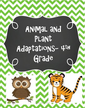 Animal and Plant Adaptations- 4th Grade