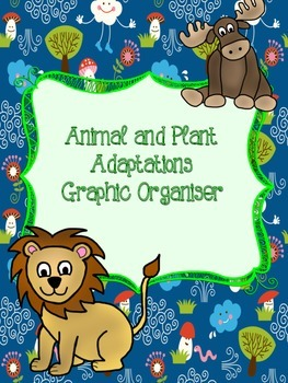 Animal and Plant Adaptations Research Graphic Organiser