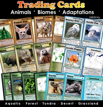 Biomes - Trading Cards