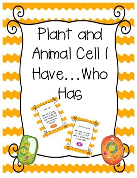Animal and Plant Cell I Have...Who Has