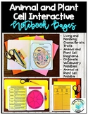 Animal and Plant Cell Interactive Journal Pages-Aligns wit