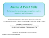 Animal and Plant Cells student diagram, comparison graphic