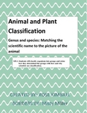 Animal and Plant Classification; genus and specie cards