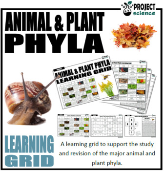 Animal and Plant Phyla Learning Grid