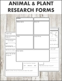 Animal and Plant Research Forms