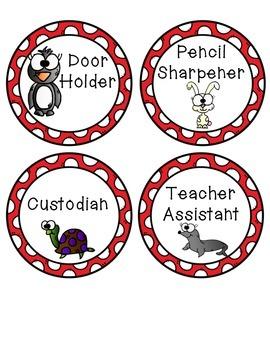 Animal and Polkadot Job Chart