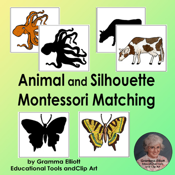 Animal and Silhouette Matching - Montessori Style