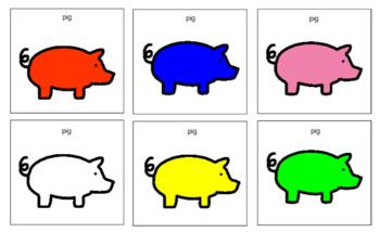 Animal and colour bingo sheets