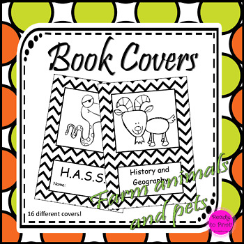 Farm animal and pet book covers