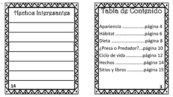 Animal booklet/Librito de reporte de animal Dual Language
