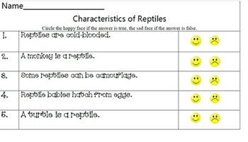 Animal characteristics: mammals, reptiles, & amphibians
