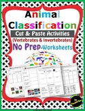 Animal Classification Activities:Sorting Animals by Pictures and Characteristics