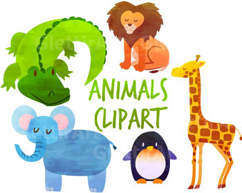 Animal clipart, Animals Clipart, Safari Clipart, for personal and commercial use