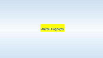 Animal cognates in spanish and english