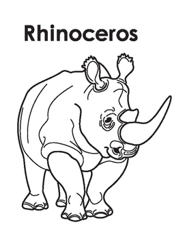 Animal coloring Page: Rhinoceros