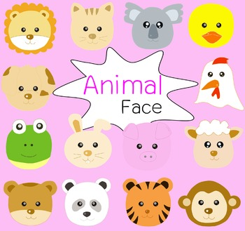 Animal face clip art