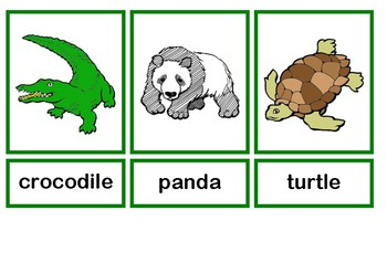 picture relating to Zoo Animal Flash Cards Free Printable named Zoo Pets Flashcards Worksheets Education Materials TpT