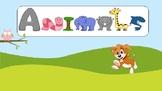 Animal game. Reading, writing task