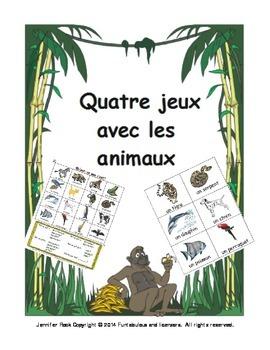 French animal games/Les jeux avec les animaux