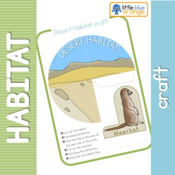 Animal habitat craft - paper dioramas