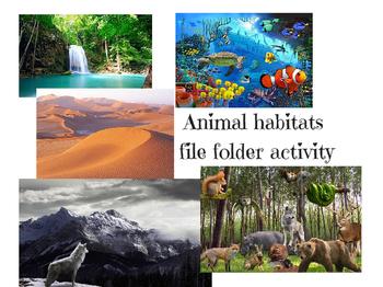 Animal habitats interactive file folder