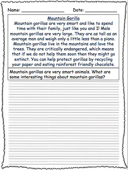 Animal informational writing **GROWING BUNDLE**