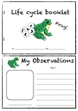 Animal life cycle observation booklet