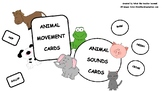 Animal movement and sounds cards