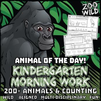 Animal of the Day! -- Kindergarten Morning Work Bundle -- ENTIRE YEAR