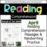 Reading Comprehension Animal of the Week April