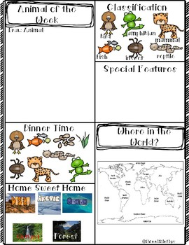 Animal of the Week! Journaling Pages