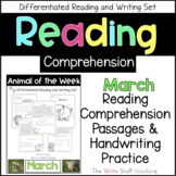 Reading Comprehension Animal of the Week March