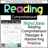 Reading Comprehension Animal of the Week May June
