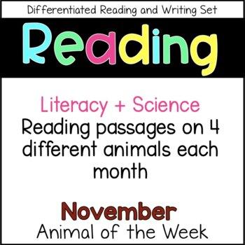 Animal of the Week November (Fall Activities)