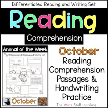 Animal of the Week October (Fall Activities)