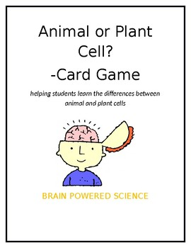 Animal or Plant Cell? Card Game