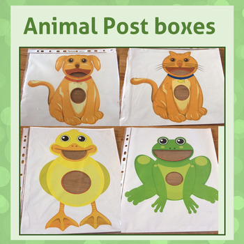 Speech Therapy - Animal post boxes - Motivational tools