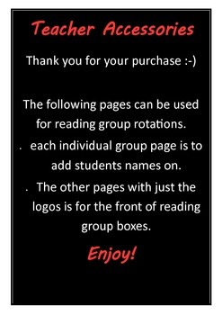 Animal reading group posters