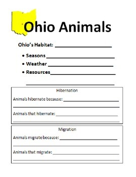 Ohio Animal Research Packet