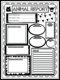 Animal Research Report Poster Print & Go Grade Three Alber