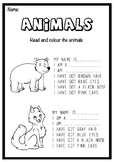 Animal's Descriptions