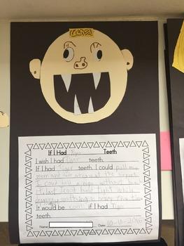 Animal  Teeth Writing Craftivity