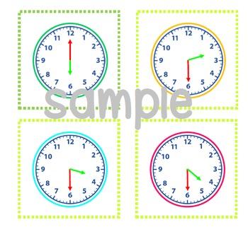 Animal snack time - o'clock and half past analogue/digital