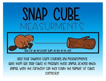 Animal snap cube measurements