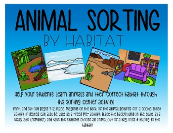 Animal sorting by habitat